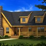 Abby Log Home Plan