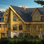 Adirondack Log Home Plan