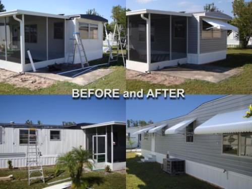 Aluminum Siding Before After