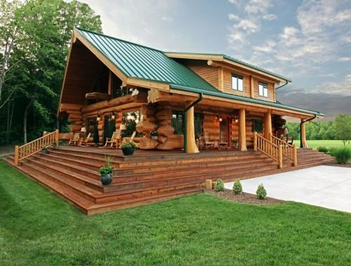 Amazing Log Cabin Green Roof Ideas Pioneer Logs Future House