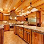 Amazing Log House Kitchens Have