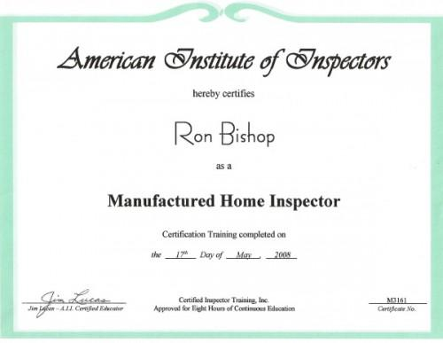 American Institute Home Inspectors Inspect Mobile Homes