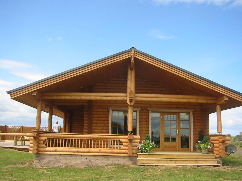 Appealing Log Cabin Style Mobile Home Design