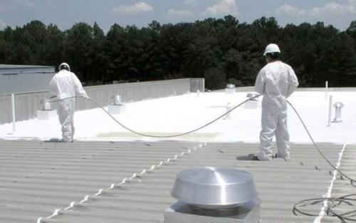 Applied Mobile Home Roof Coating