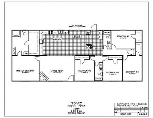 Back Bedroom Mobile Home Floor Plans