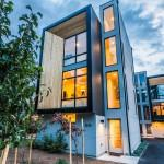 Back Return Modern Prefab Townhomes West Seattle