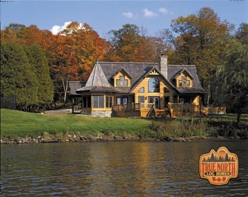 Beautiful Waterfront Log Home