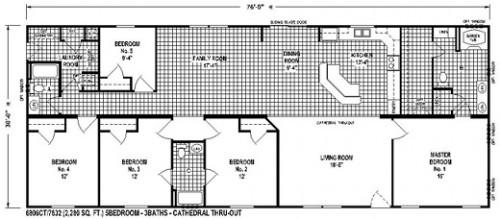 Bedroom Floor Plans Mobile Home Sectional Plan