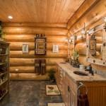Big Moose New York Log Home Rustic Bathroom
