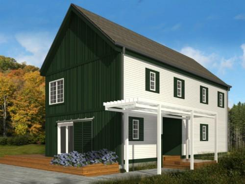 Blu Homes Unveil Classic New England Style Lofthouse Prefab
