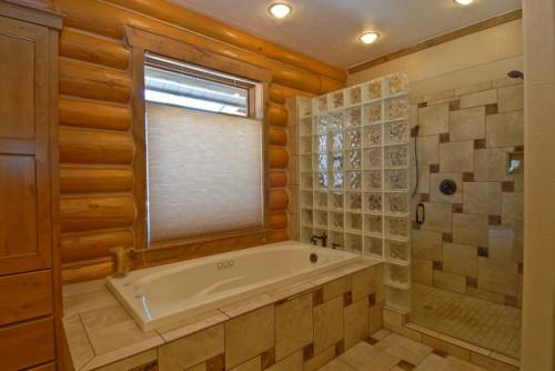 Breckenridge Highlands Milled Log Home Traditional Bathroom
