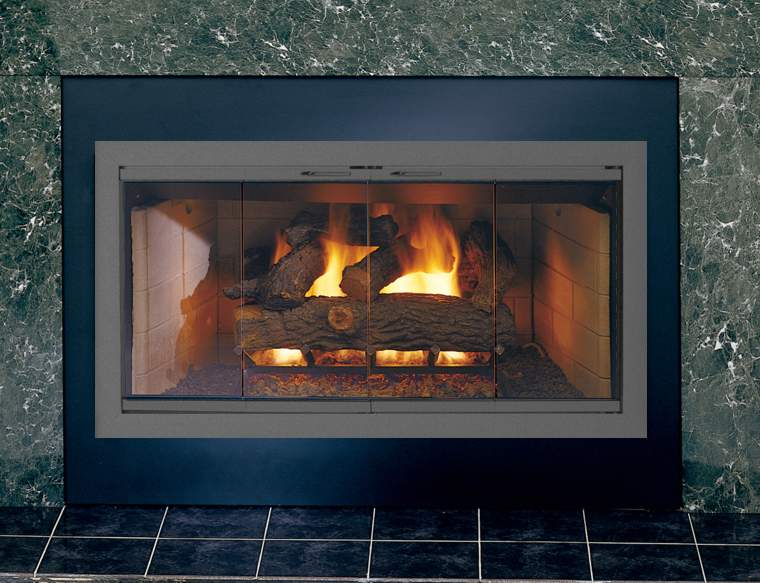 Brookfields Custom Made Glass Door Zero Clearance Fireplaces