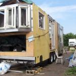 Building Home Made Solar Powered Travel Trailer Ground