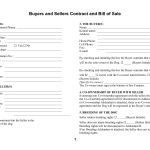 Buyers Sellers Contract Bill Sale Pdf