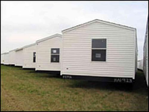 Caption Fema Mobile Homes Stockpiled Airport Hope Ark