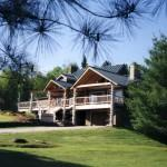 Central Vermont Only Luxury Log Home