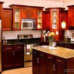 Cherry Maple Glaze Solid Wood Prefab Kitchen Bathroom Vanities