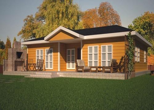 China Leisure Small Green Prefabricated Cottage Modular Homes