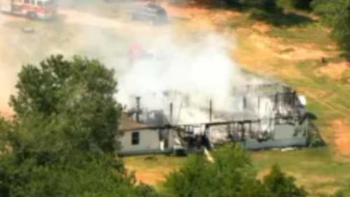 City Fire Has Destroyed Mobile Home Oklahoma