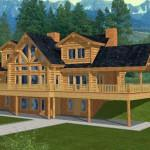Coast Mountain Log Homes Plan