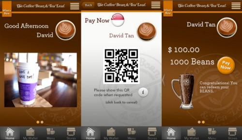 Coffee Bean Mobile App Tea Leaf Launched