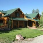 Colorado Log Home Guest House Bordering National Forest Sale