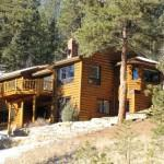 Colorado Log Home Trout Pond Creek Sale