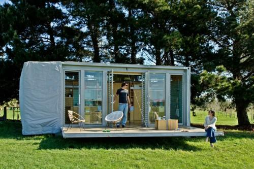 Compact Sustainable Port Bach Shipping Container Holiday Home