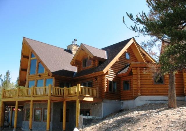 Completed Log Home Lost Park
