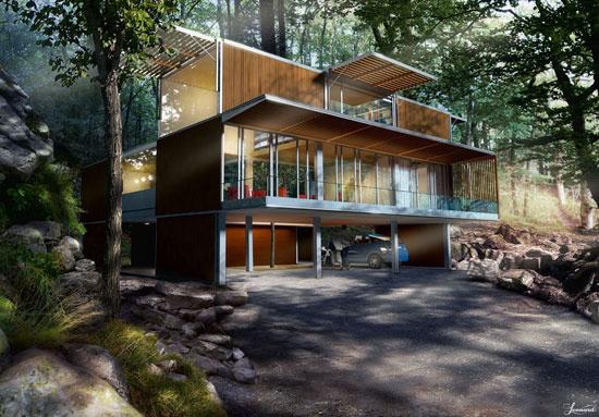 Cool Home Made Recycled Shipping Containers