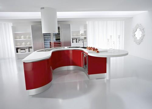 Cool Modular Home Office Furniture Systems Red White Kitchen