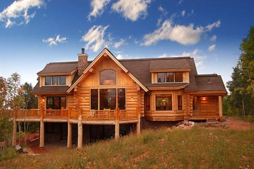 Country Style Homes Handcrafted Log House Dormers
