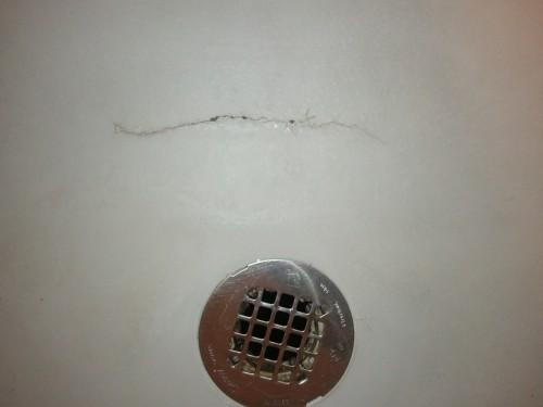 Crack Prefab Shower Pan Can Repaired