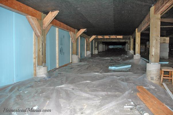 Crawlspace Insulated Blue Styrofoam Insulation Vapor