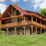 Custom Built Log Cabin Near Guernsey County Make Fairview Homes
