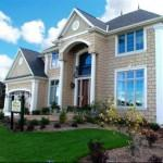 Custom Dream Homes According Your Wishes Brick House Green Lawn
