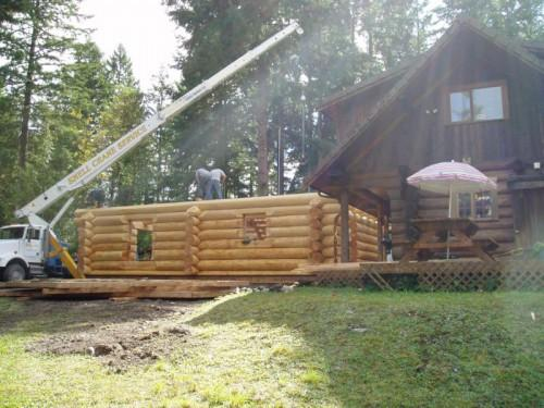Custom Log Home Addition Eatonville Approx