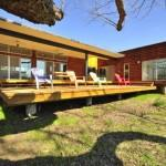 Custom Prefab Modular House Patinated Metal Facade Austin Texas