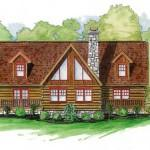 Daniel Boone Log Homes Inc Dandridge Home Plan Ext