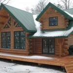 Deep Roof System Not All Michigan Log Home Builders Offer