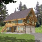 Delicate Log Cabin Home Designs