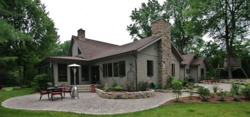 Dexter Log Home Addition Remodel Traditional Exterior