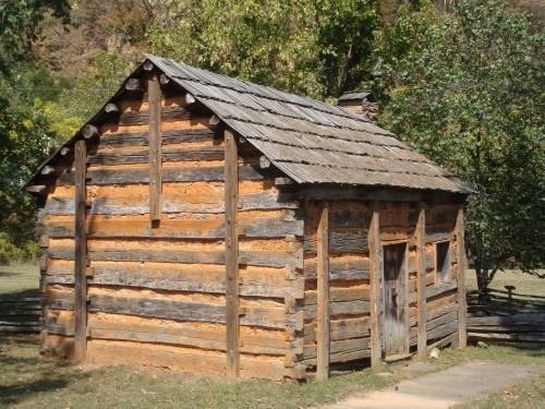 Displaying Abraham Lincolns Log Cabin