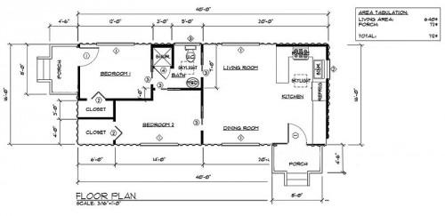 Double Wide Hawaiian Affordable Housing Container Home Plans