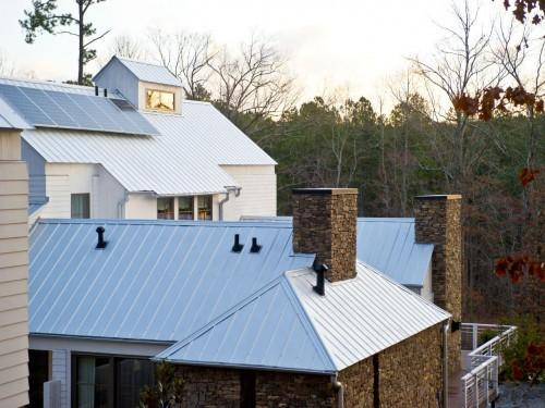 Durable Sheet Steel Roofing System Follows Classic Farmhouse Forms