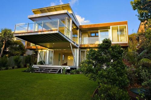 Eco Friendly House Designs Large Home Balcony Design Glass Fence
