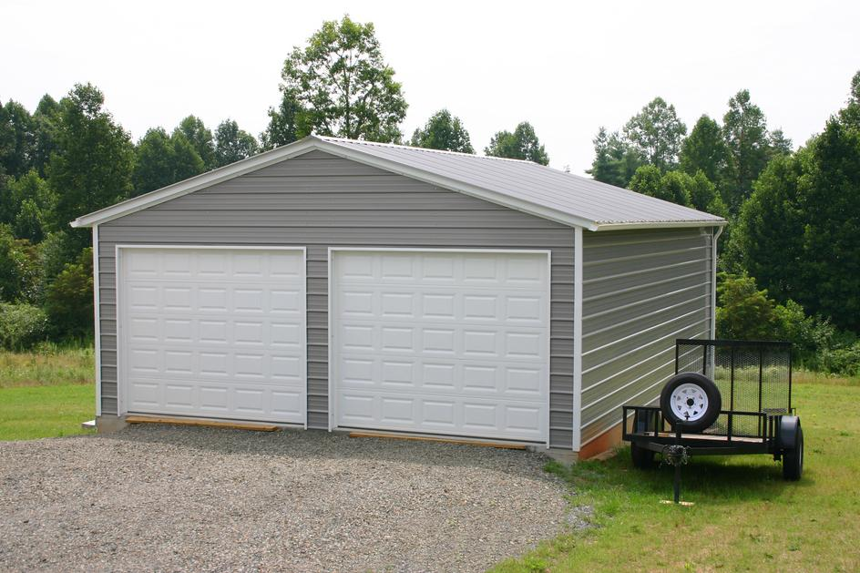 Example Prefab Metal Garage