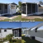 Example Recent Job Replacing Aluminum Siding Mobile Home