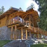 Exterior Shots Log Homes Traditional Modern