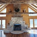 Fireplace Log Home Narrows Goes Ceiling